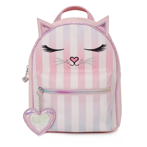OMG! Accessories Miss Bella the Kitty Striped Mini Backpack