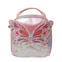 OMG! Accessories B-Fly Glitter Butterfly Insulated Lunch Tote
