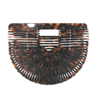 Tortoise Shell Resin Arc Clutch