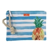 Pineapple Striped Swimwear Wristlet Ditty Bag