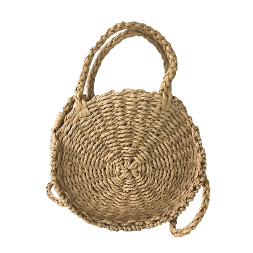 Woven Straw Small Circle Crossbody