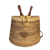 Blue Island Bucas Woven Rattan Backpack Sling Bag