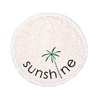 Sunshine Palm Tree Round Beach Blanket