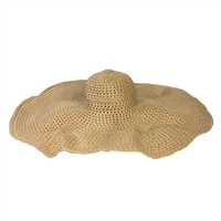 Blue Island Zoe Oversized Floppy Straw Sun Hat