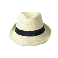 Blue Island Straw Fedora Hat Ribbon Band