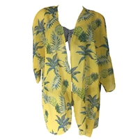 Pineapples & Palms Swim Kimono Cover Up