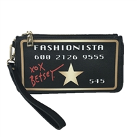 Betsey Johnson No Limit Credit Card Clutch Wristlet