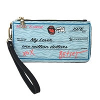 Betsey Johnson Write Me A Check Wristlet Clutch