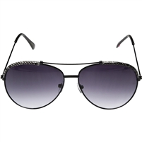 Betsey Johnson Exotic 60MM Aviator Sunglasses