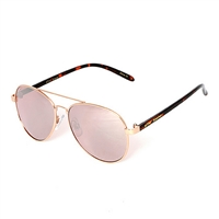 Betsey Johnson Mirrored Aviator Sunglasses