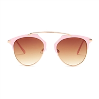 Betsey Johnson To The Shade Open Bridge Metal Sunglasses
