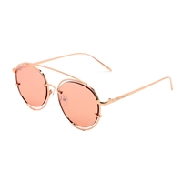 Betsey Johnson Open Rim Round Sunglasses BJ485107