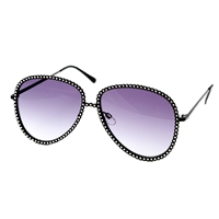Betsey Johnson Super Star Flat Aviator Sunglasses