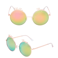 Betsey Johnson Hello Boys Round Sunglasses