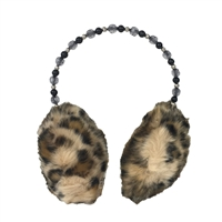 Betsey Johnson Beaded Band Faux Fur Earmuffs