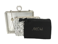 Betsey Johnson Maid of Honor Lucite Clutch Set