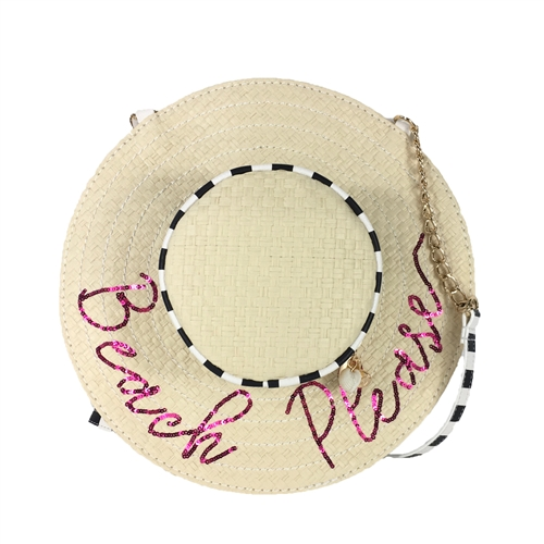 Betsey Johnson Beach Please Sunhat Crossbody