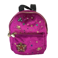 Betsey Johnson Lucky Star Beaded Velvet Mini Backpack