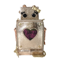 Betsey Johnson Love Machine Robot Crossbody