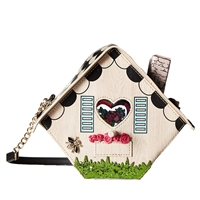 Betsey Johnson Home Tweet Home Birdhouse Crossbody