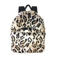Betsey Johnson Faux Fur Leopard Backpack