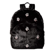 Betsey Johnson Faux Fur Bejeweled Backpack