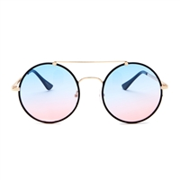 Betsey Johnson Gradiant Round Aviator Sunglasses