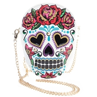Betsey Johnson Head Case Sugar Skull Crossbody