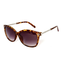 Betsey Johnson Shine Embellished Square Sunglasses