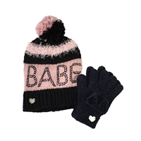 Betsey Johnson Babe Beanie Hat & Glove Set