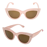 Betsey Johnson Mini Bling Cat Eye Sunglasses