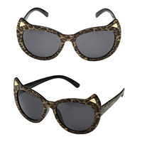 Betsey Johnson Cats Ears Framed Sunglasses