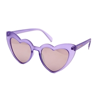 Betsey Johnson Exaggerated Heart Cat Eye Sunglasses