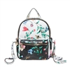 Betsey Johnson Gingham Style Rose Print Backpack
