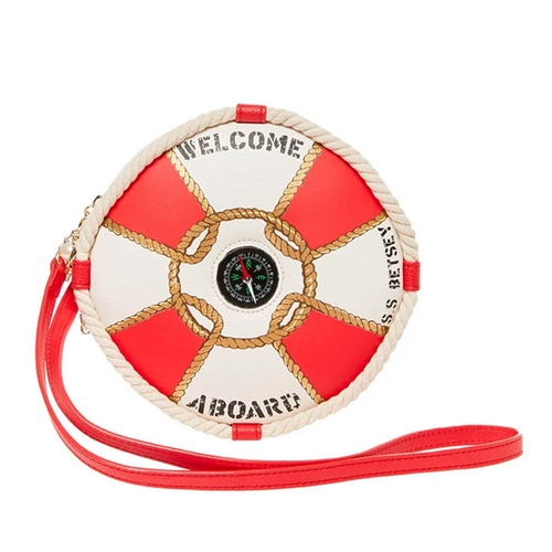 Betsey Johnson Hey Sailor Welcome Aboard Circle Crossbody