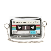 Betsey Johnson Dance Party Mixed Cassette Tape Crossbody,