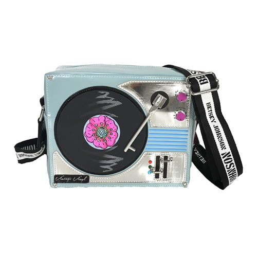 Betsey Johnson Play It DJ Betsey Record Player Crossbody