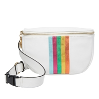 Betsey Johnson Rainbow Lines Fanny Pack Belt Bag