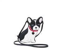 Betsey Johnson Fur Gedaboutit Boston Terrier Dog Crossbody