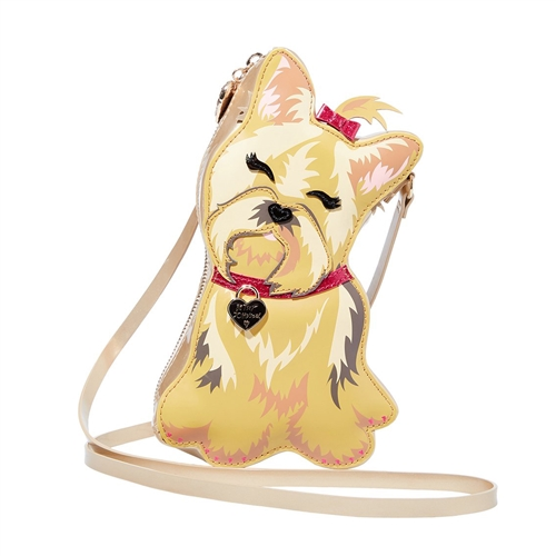 Betsey Johnson I Heart New Yorkie Dog Crossbody Bag