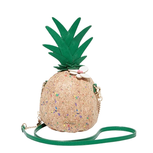 Betsey Johnson Fineapple Pineapple Cork Wristlet Crossbody