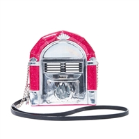 Betsey Johnson Jukebox Jumping Crossbody w Wireless Speaker
