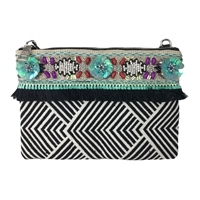 Steve Madden B-Jan Fringe Clutch Crossbody