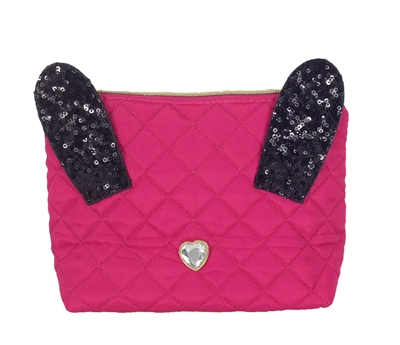 Betsey Johnson Disco Bunny Cosmetic Case