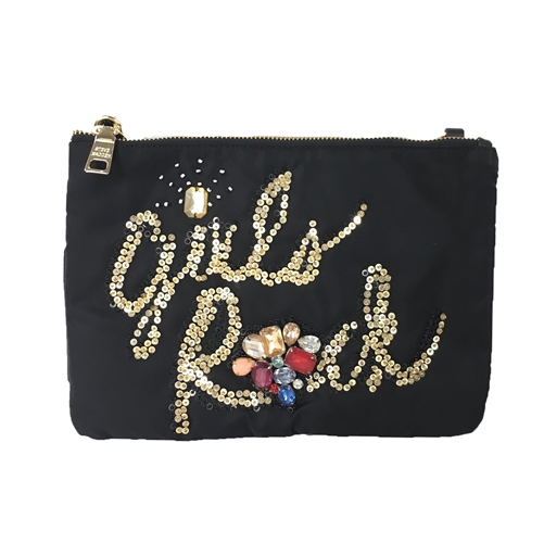 Steve Madden BRock Girls Rock Jeweled Clutch C