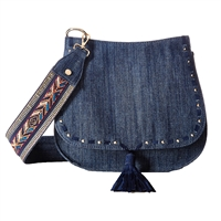 Steve Madden B-Swiss Denim Saddle Bag