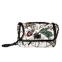 Steve Madden B-Tressa Graffiti Mini Crossbody Bag