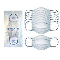 Breath Silver Daily Disposable Face Mask 7 Pack