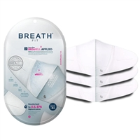 Breath Silver Fit Nano Fiber Breaxell Disposable Face Mask 3 Pack