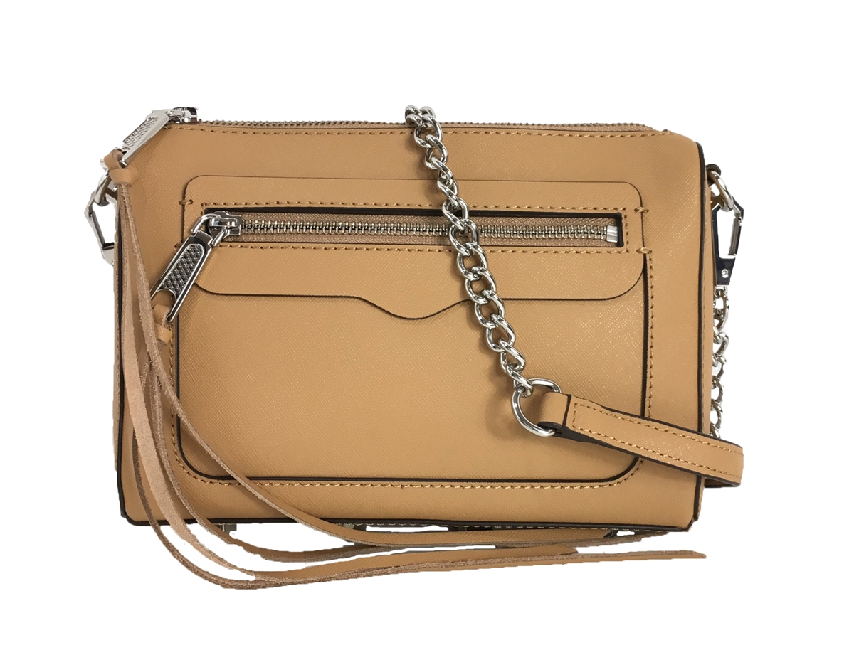 06d6ecfcaeb Rebecca Minkoff Avery Textured Leather Crossbody Bag, Tan